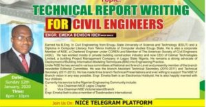 Technical Report Writing by Engr. Emeka Ibeh
